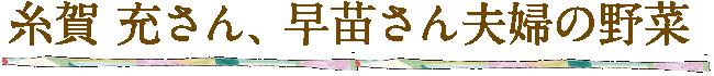 糸賀 充さん、早苗さん夫婦の野菜